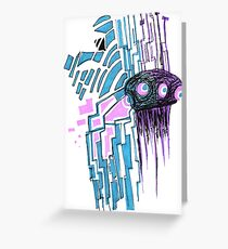 The Probot Blows Greeting Card