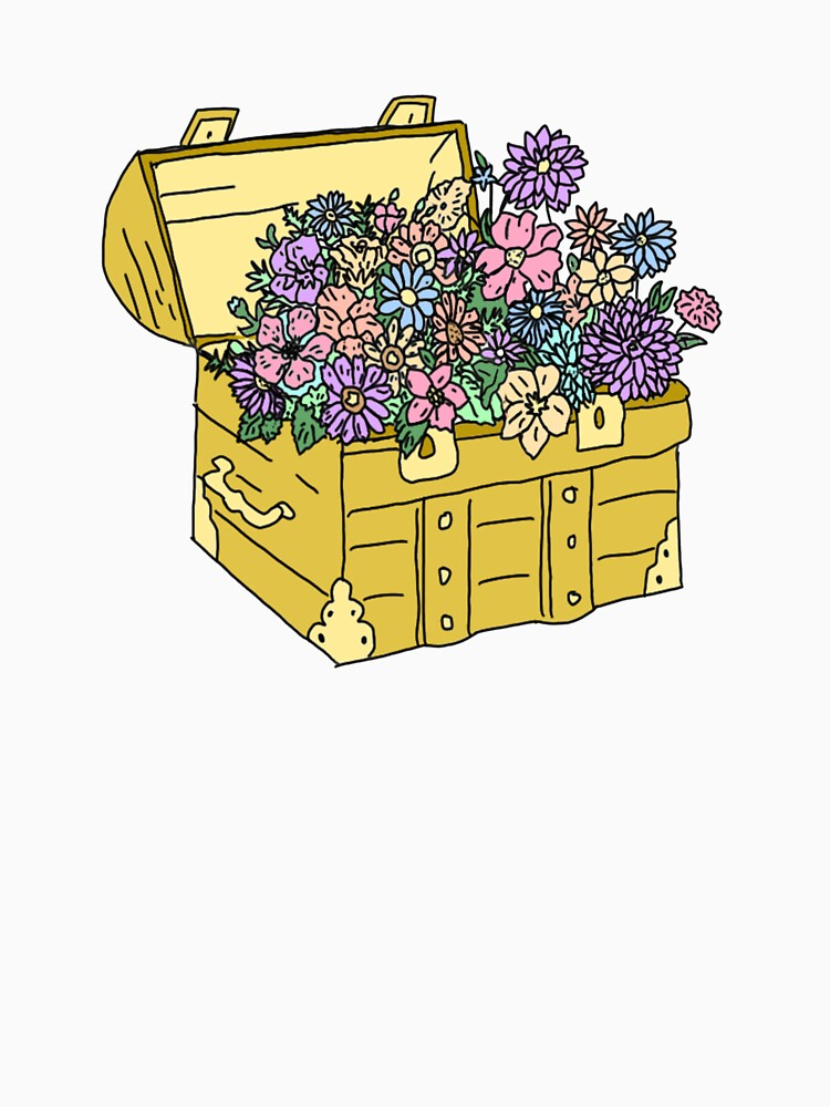 flowers in treasure chest by andilynnf