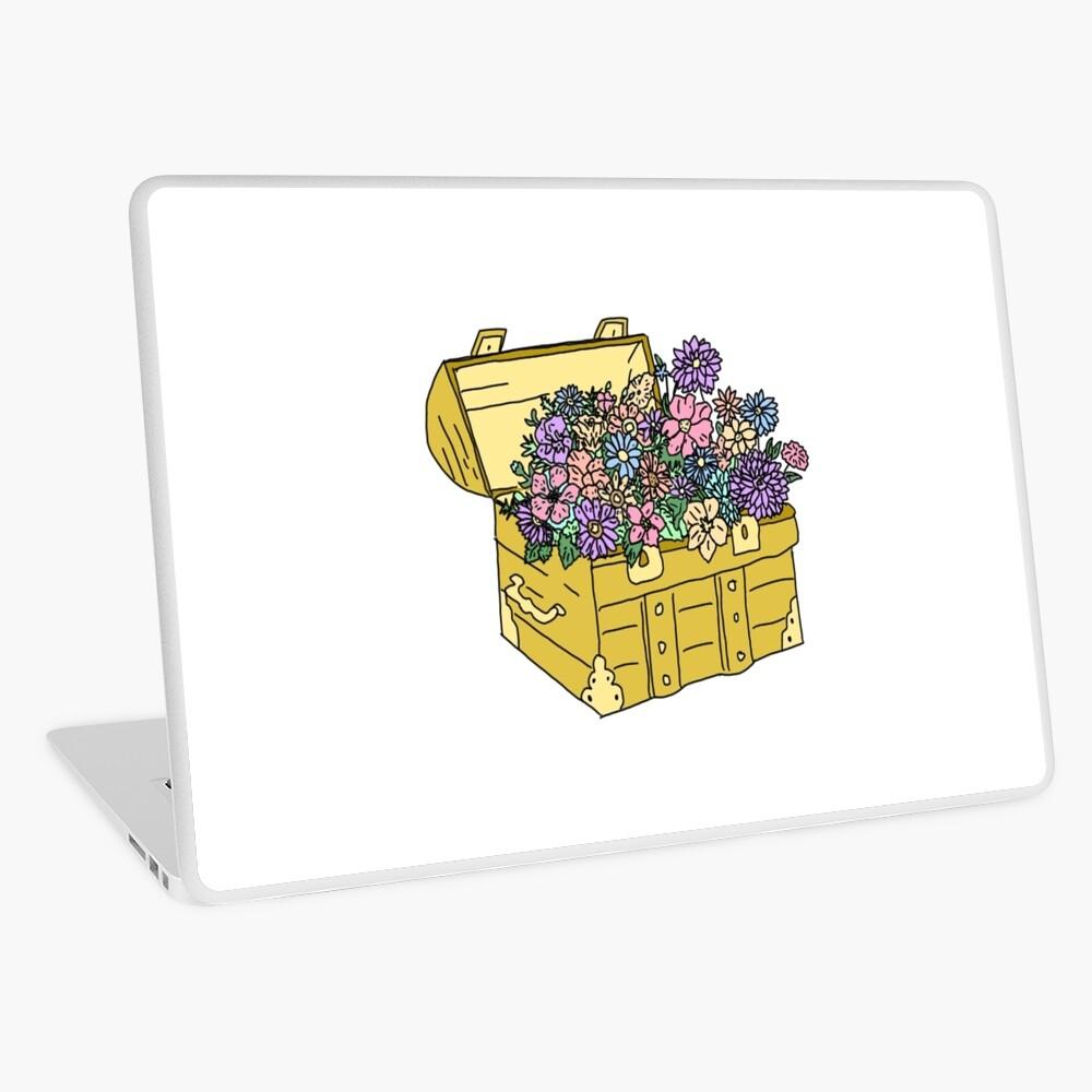 flowers in treasure chest Laptop Skin