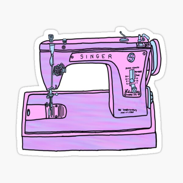 purple singer sewing machine Sticker