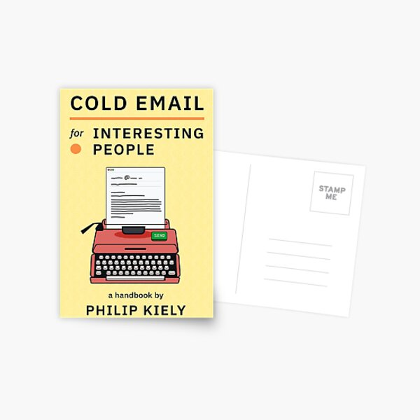 Cold Email for Interesting People Postcard