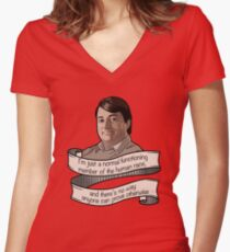 "Peep Show ""Mark Corrigan"" Women's Fitted V-Neck T-Shirt"