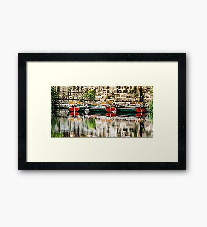 Knaresborough boats Framed Print