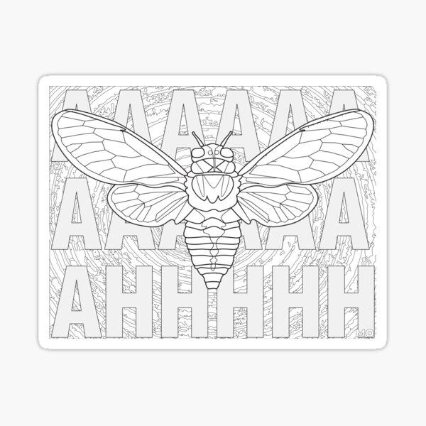 Screaming Cicada Sticker