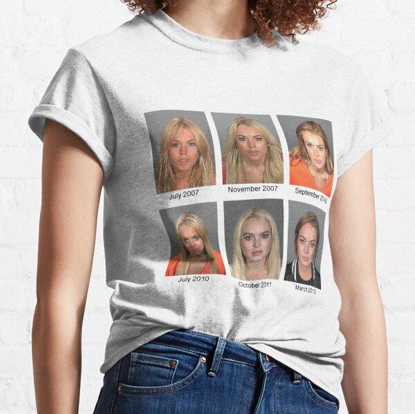Lindsay Lohan Mugshots Classic T-Shirt