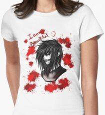 Jeff the Killer Women's Fitted T-Shirt