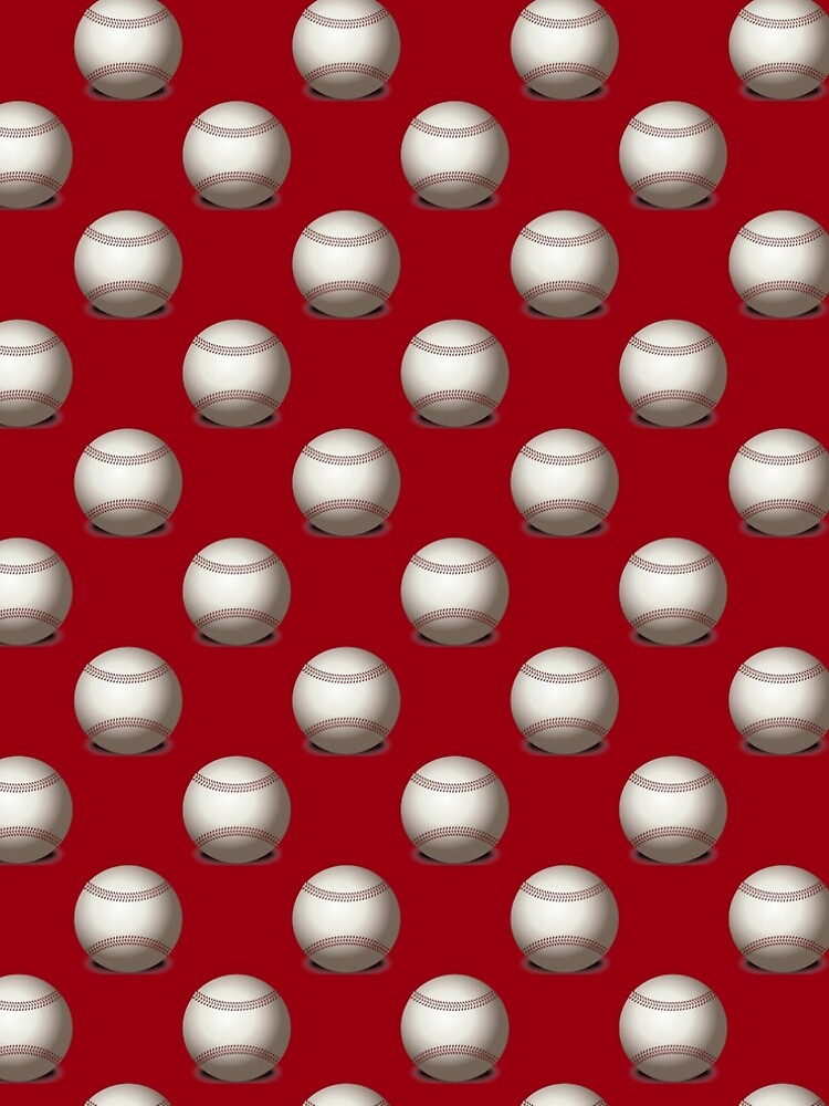 Baseballs on Red Background by pugmom4