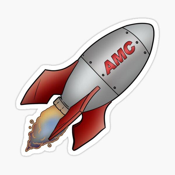 AMC Rocket - To The Moon Vers. 2 Sticker