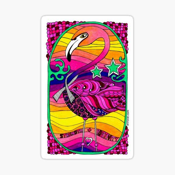Strength & Positivity Flamingo Sticker