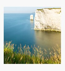Morning light at Old Harry Rocks Photographic Print
