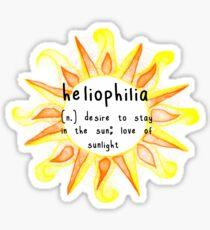 Pegatina Heliophilia