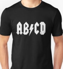 AB/CD White Unisex T-Shirt
