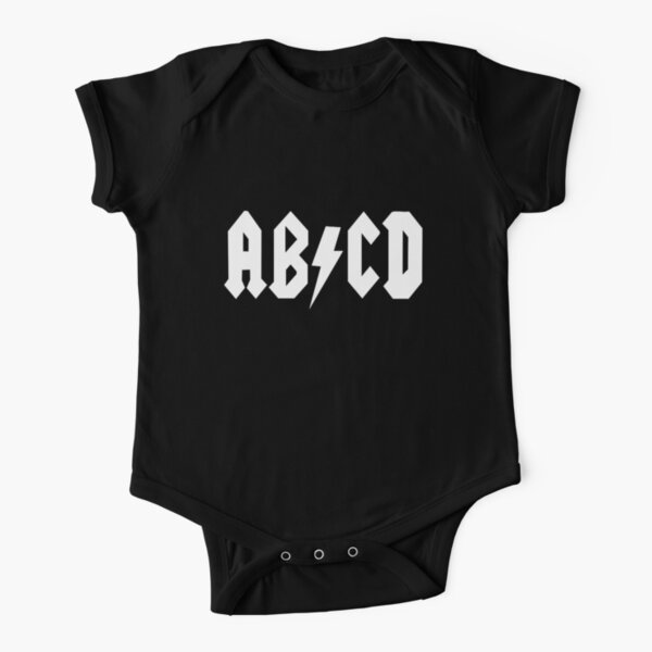 AB/CD White Short Sleeve Baby One-Piece