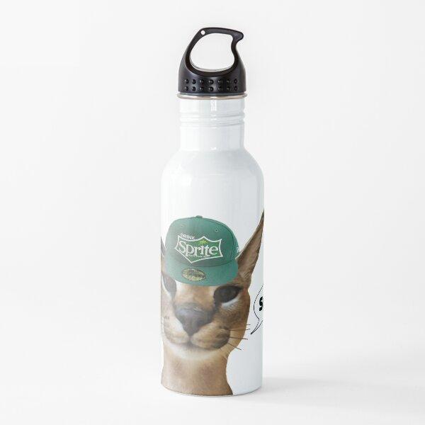 Big Floppa Cat Meme Spirte Zabloing Caracal (Fanter series) Water Bottle