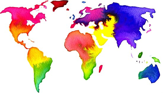 Rainbow watercolor world map posters by sadiesavesit redbubble rainbow watercolor world map by sadiesavesit gumiabroncs Images