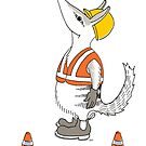 Numbat in a hardhat by Joel Tarling