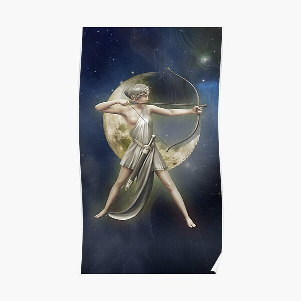 Greek Goddess Artemis v2 Poster