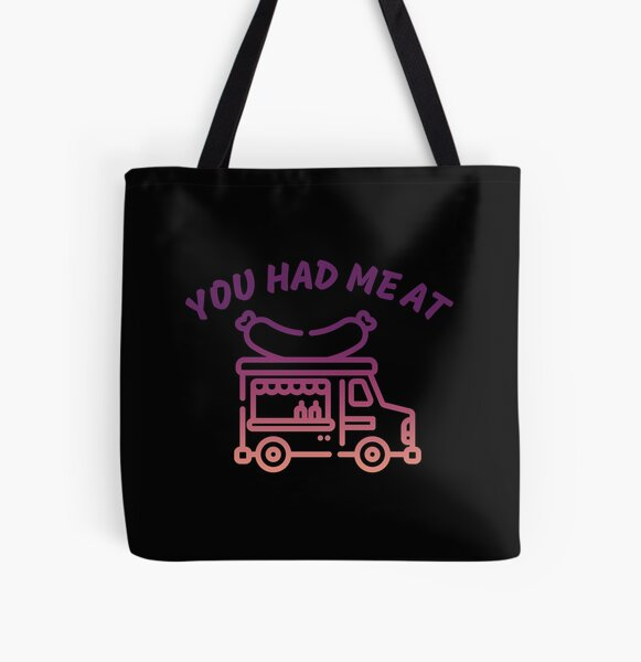 You Had Me At Food Truck All Over Print Tote Bag