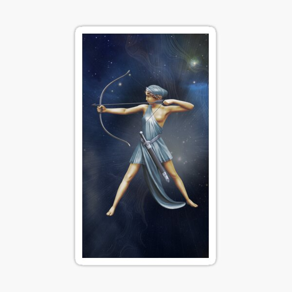 Greek Goddess Artemis v3 Sticker