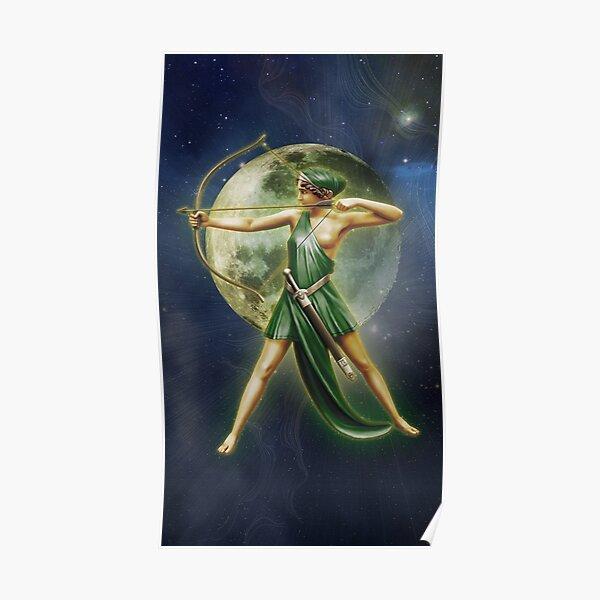 Greek Goddess Artemis v4 Poster