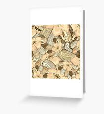 Floral Ornamental Pattern Greeting Card