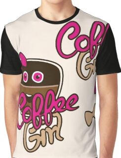 Cute Coffee GirlAddict Graphic T-Shirt
