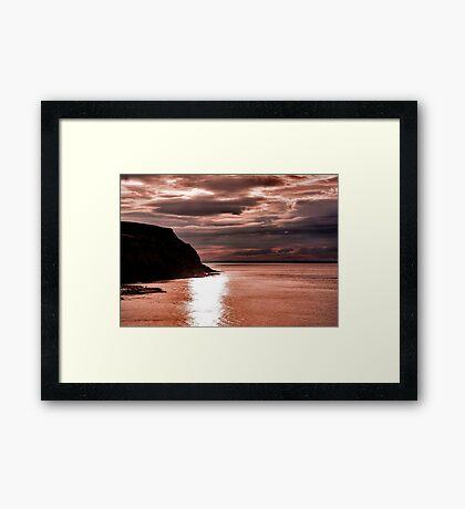 North Sea Sunset Framed Print