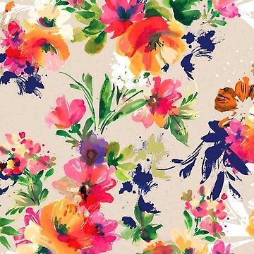 Watercolour Flower Pattern by whatemma
