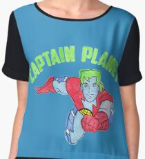 Captain Planet  Women's Chiffon Top