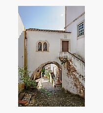 Traditional architecture in Medieval Portuguese Town of Obidos Photographic Print