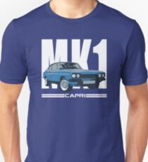 Blue Ford Capri MK1 Classic Car T-Shirt
