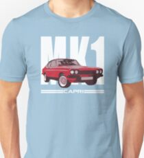 Red Ford Capri MK1 Classic Car  T-Shirt
