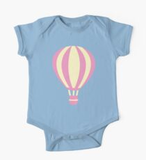 Pastel Hot air Balloon One Piece - Short Sleeve