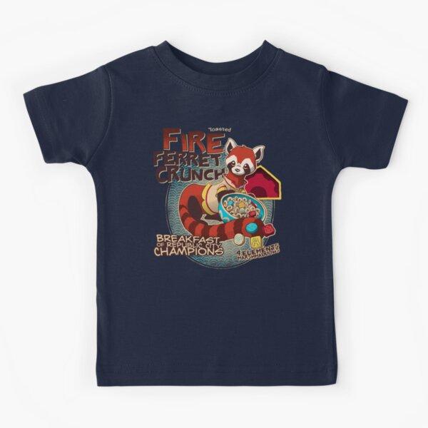 Fire Ferret Crunch Kids T-Shirt