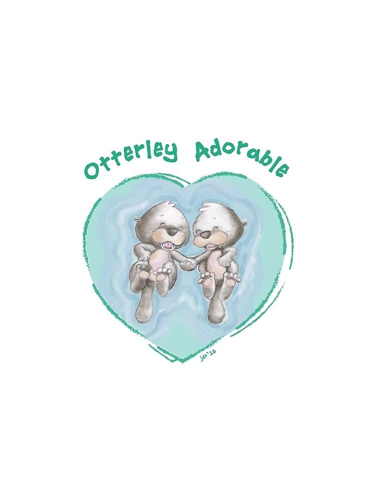 OTTERLEY ADORABLE - Grün auf Weiß von charactergirl