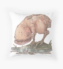 Guar and a coda flower Throw Pillow