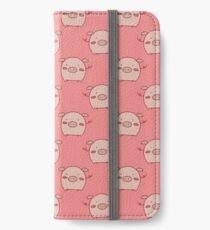 Rosa Piggy Muster iPhone Flip-Case/Hülle/Skin