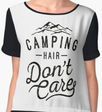Camping Hair Don't Care Chiffon Top