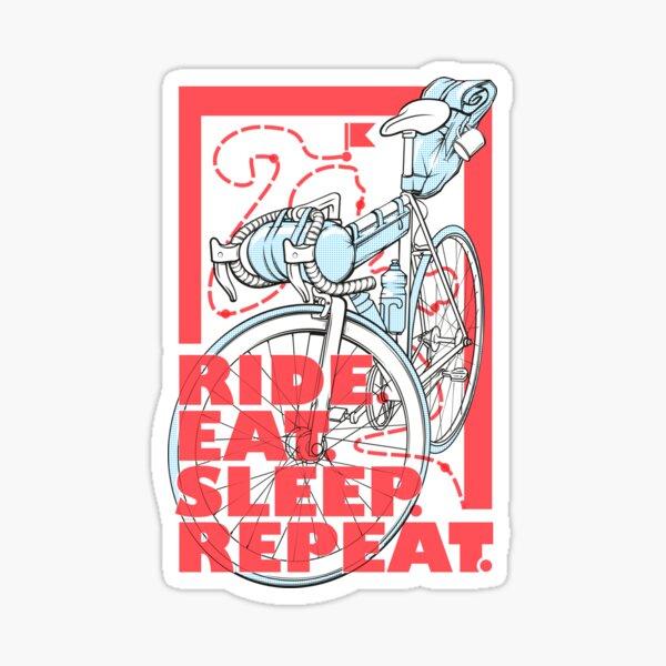 Ride.Eat.Sleep.Repeat. Sticker