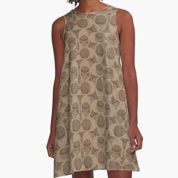 best brown A-Line Dress