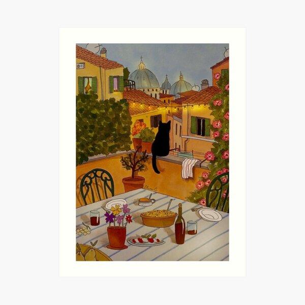 Roman Roofs feat. Stanis Art Print