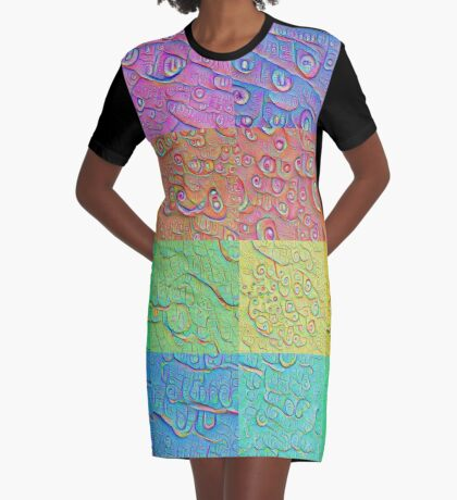 Deep Dreaming of a Color World Graphic T-Shirt Dress