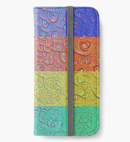 Deep Dreaming of a Color World iPhone Wallet