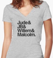 The Saddest Book Women's Fitted V-Neck T-Shirt