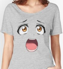 Anime face brown eyes Women's Relaxed Fit T-Shirt