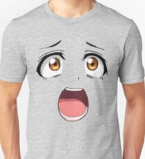 Anime face brown eyes Unisex T-Shirt