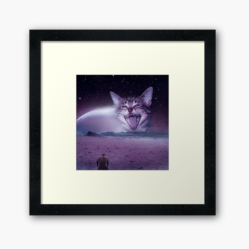 Planet Of The Cats Framed Art Print