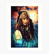Er ist ein Pirat Kunstdruck