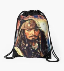 He's A Pirate Drawstring Bag