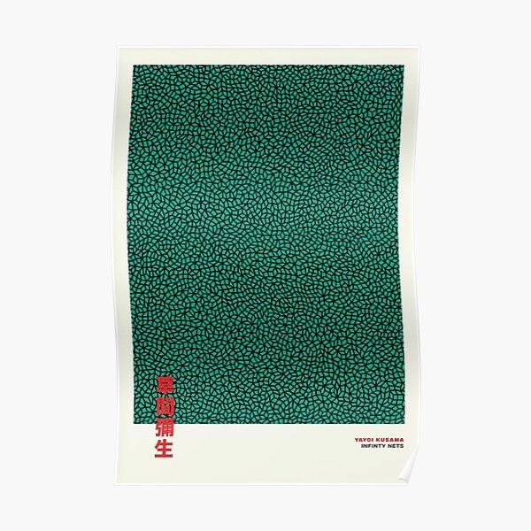 Yayoi Kusama vert infini Poster